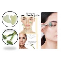 10 Brochas de maquillaje con estuche dorado/ rodillo piedra  jade