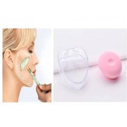 Herramientas de belleza facial rodillo jade y masajeador electrico