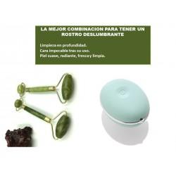Kit de belleza facial rodillo jade y masajeador electrico